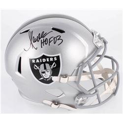 """Marcus Allen Signed Oakland Raiders Full-Size Speed Helmet Inscribed """"HOF 03"""" (Beckett COA  Allen Ho"""