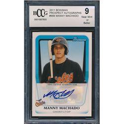 2011 Bowman Prospects Autographs #MM Manny Machado RC (BCCG 9)