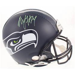 Marshawn Lynch Signed Seattle Seahawks Full-Size Authentic On-Field Helmet (Radtke COA)