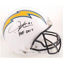 """LaDainian Tomlinson Signed Los Angeles Chargers Full-Size Authentic On-Field Helmet Inscribed """"HOF 2"""