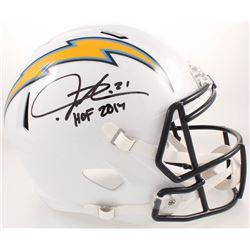 "LaDainian Tomlinson Signed San Diego Chargers Full-Size Speed Helmet Inscribed ""HOF 2017"" (Radtke CO"