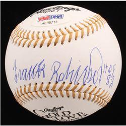 "Frank Robinson Signed Gold Glove Award Baseball Inscribed ""HOF 82"" (PSA COA)"