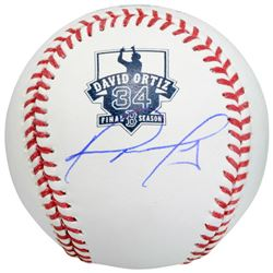 David Ortiz Signed Final Season Commemorative OML Logo Baseball (MLB Hologram  Fanatics Hologram)