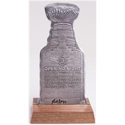 Patrice Bergeron Signed 2011 Stanley Cup Trophy Cutout (Bergeron COA)