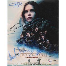 """Star Wars: Rogue One"" 11x14 Photo Cast-Signed by (6) with Felicity Jones, Donnie Yen, Alan Tudyk, G"