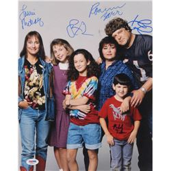 """""""Roseanne"""" Signed 11x14 Photo Cast-Signed by (6) with Roseanne Barr, John Goodman, Sara Gilbert, Lau"""
