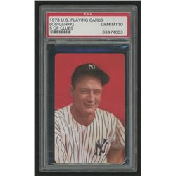 1973 U.S. Playing Cards Lou Gehrig 5 of Clubs (PSA 10)