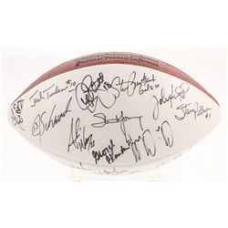 NFL Quarterbacks Multi-Signed NFL Official Football with (28) Signatures Including Y.A. Tittle, Ken
