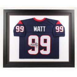 J. J. Watt Signed 35x43 Custom Framed Jersey (JSA COA)