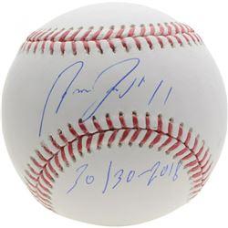 """Jose Ramirez Signed OML Baseball Inscribed """"30/30 - 2018"""" (Fanatics Hologram)"""