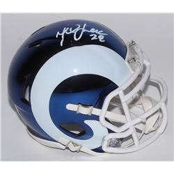 Marshall Faulk Signed St. Louis Rams Chrome Speed Mini Helmet (Radtke COA)
