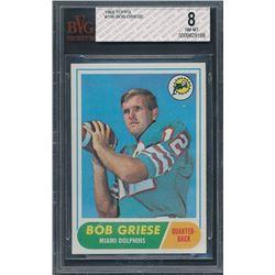 1968 Topps #196 Bob Griese RC (BVG 8)