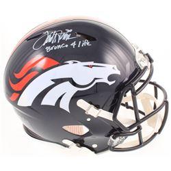 "Terrell Davis Signed Denver Broncos Full-Size Authentic On-Field Speed Helmet Inscribed ""Bronco 4 Li"