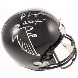 "Brett Favre Signed Atlanta Falcons Full-Size Throwback Helmet Inscribed ""1991 Rookie Year"" (Radtke C"