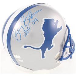"Barry Sanders Signed Detroit Lions Full-Size Throwback Helmet Inscribed ""HOF 04"" (Radtke COA)"