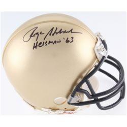 """Roger Staubach Signed Navy Midshipmen Mini-Helmet Inscribed """"Heisman '63"""" (JSA COA)"""