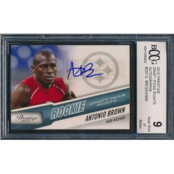 2010 Prestige Draft Picks Rights Autographs #207 Antonio Brown /999 RC (BCCG 10)