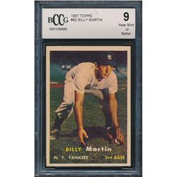 1957 Topps #62 Billy Martin RC (BCCG 9)