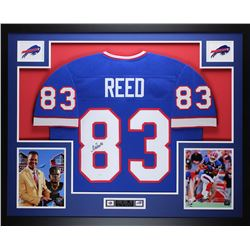 Andre Reed Signed 35x43 Custom Framed Jersey (JSA COA)