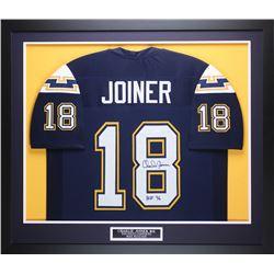 """Charlie Joiner Signed 35"""" x 43"""" Custom Framed Jersey (JSA COA)"""