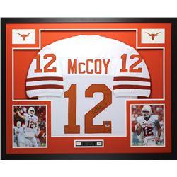 "Colt McCoy Signed 35"" x 43"" Custom Framed Jersey (PSA COA  GTSM Hologram)"