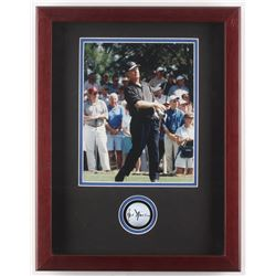 Jack Nicklaus Signed 14x18x2.5 Custom Framed Golf Ball Shadowbox Display (JSA LOA)