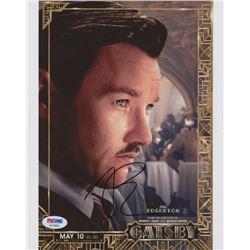 "Joel Edgerton Signed ""The Great Gatsby"" 8x10 Photo (PSA COA)"