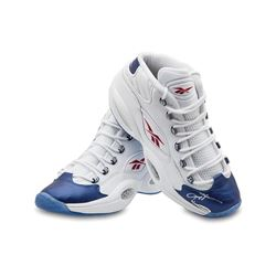 Allen Iverson Signed Limited Edition Reebok Question Mid Shoes with Blue Toe (UDA COA)