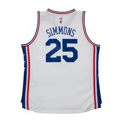 Ben Simmons Signed Philadelphia 76ers Jersey (UDA COA)