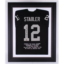 Ken Stabler Signed 35.5x43.5 Custom Framed Career Highlight Stat Jersey (Radtke COA)