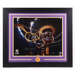 Kareem Abdul-Jabbar Signed Los Angeles Lakers 23.5x27.5 Custom Framed Photo (Beckett COA)