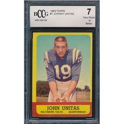 1963 Topps #1 Johnny Unitas (BCCG 7)