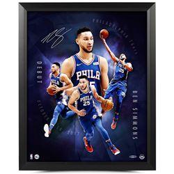 "Ben Simmons Signed Philadelphia 76ers ""Inauguration"" 16x20 Custom Framed Photo (UDA COA)"