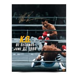 """Mike Tyson Signed """"91 Seconds"""" Limited Edition 16x20 Photo (UDA COA)"""