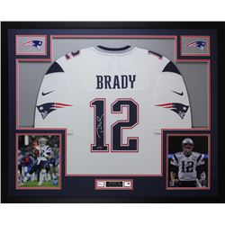 Tom Brady Signed 35x43 Custom Framed Jersey (TriStar Hologram)
