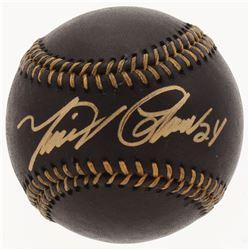 Miguel Cabrera Signed Black Leather OML Baseball (JSA COA)