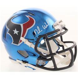 Deshaun Watson Signed Houston Texans Chrome Speed Mini Helmet (JSA COA)