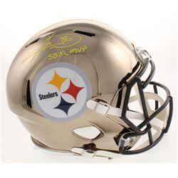 "Hines Ward Signed Pittsburgh Steelers Full-Size Chrome Speed Helmet Inscribed ""SB XL MVP"" (Beckett C"