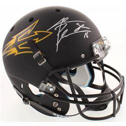 Jake Plummer Signed ASU Sun Devils Full-Size Custom Matte Black Helmet (Beckett COA)