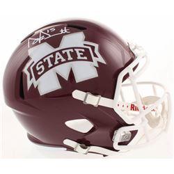 Dak Prescott Signed Mississippi State Bulldogs Full-Size Speed Helmet (Beckett COA)