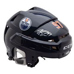 Connor McDavid Signed Edmonton Oilers Helmet (UDA COA)