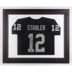 Ken Stabler Signed 35.5x43.5 Custom Framed Jersey (Radtke COA)