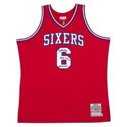 """Julius """"Dr. J"""" Erving Signed Philadelphia 76ers Jersey Inscribed """"'83 NBA Champ"""" (UDA COA)"""