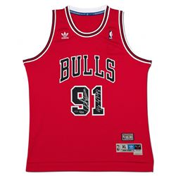 "Dennis Rodman Signed Chicago Bulls Limited Edition Jersey Inscribed ""96-97-98"" (UDA COA)"