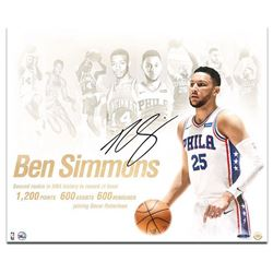 """Ben Simmons Signed Philadelphia 76ers """"NBA Royalty"""" 20x24 Photo (UDA COA)"""