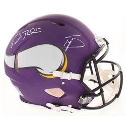 Adam Thielen  Stefon Diggs Signed Minnesota Vikings Full-Size Authentic On-Field Speed Helmet (Becke