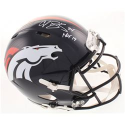 "Champ Bailey Signed Denver Broncos Full-Size Authentic On-Field Speed Helmet Inscribed ""HOF 19"" (JSA"