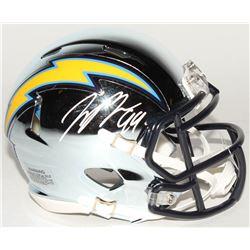 Joey Bosa Signed Los Angeles Chargers Chrome Mini Speed Helmet (Beckett COA)