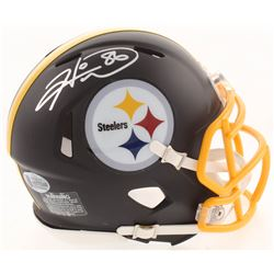 Hines Ward Signed Pittsburgh Steelers Matte Black Mini Speed Helmet (Beckett COA)