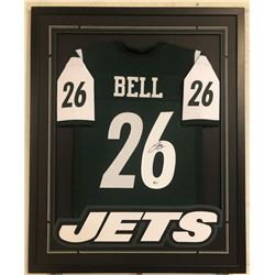 Le'Veon Bell Signed 34x42 Custom Framed Jersey (Beckett COA)
